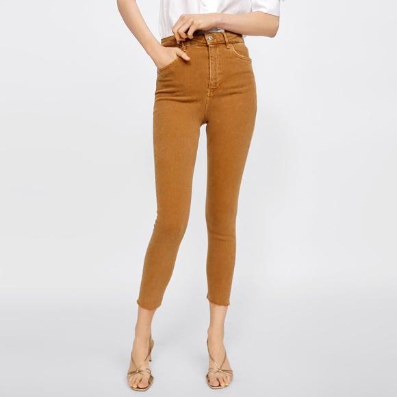 Zara 80's high waisted colored skinny jeans 4